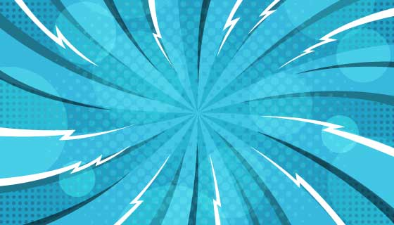 蓝色漫画风格背景矢量素材(AI/EPS)
