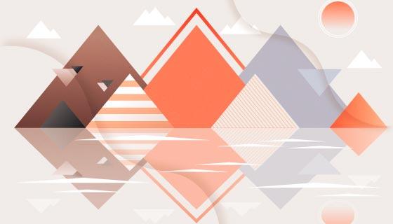 抽象几何背景矢量素材(AI/EPS)