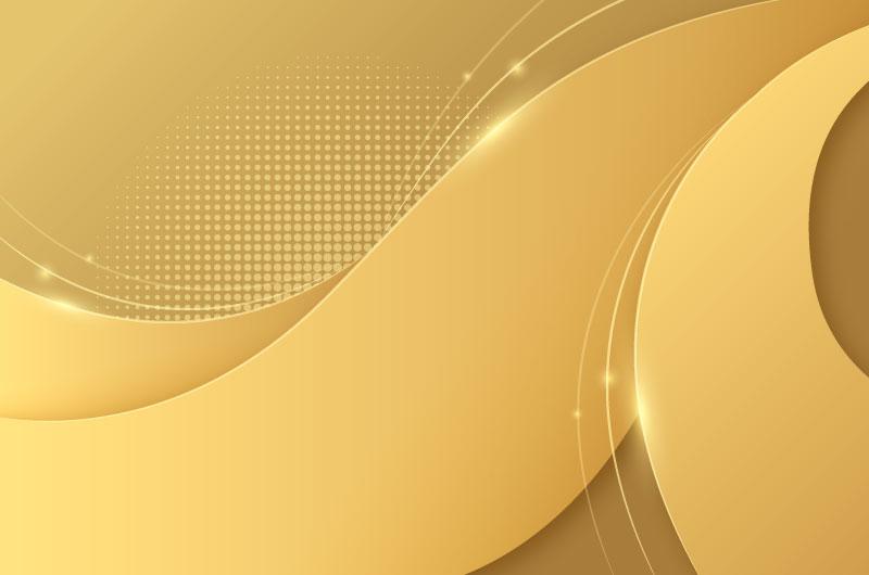 光滑的金色波浪背景矢量素材(AI/EPS)