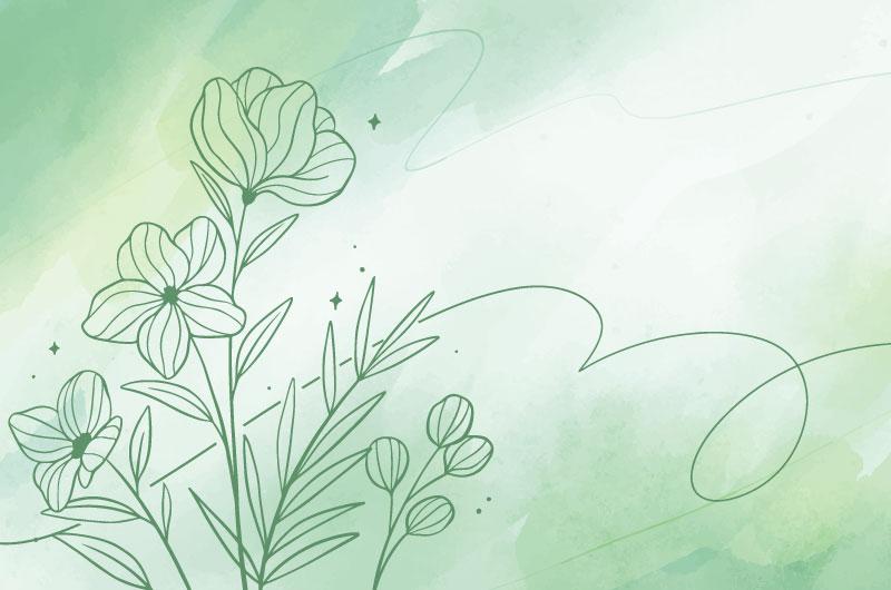绿色水彩花卉背景矢量素材(AI/EPS)