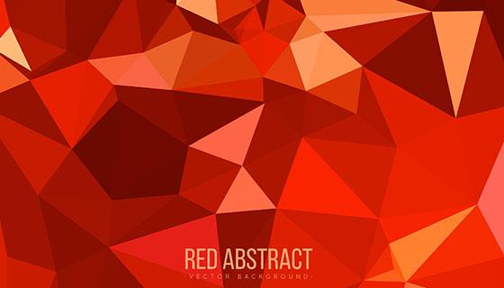 红色低多边形抽象背景矢量素材(EPS/AI)