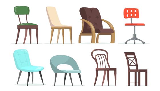 各种各样的椅子矢量素材(EPS/PNG)