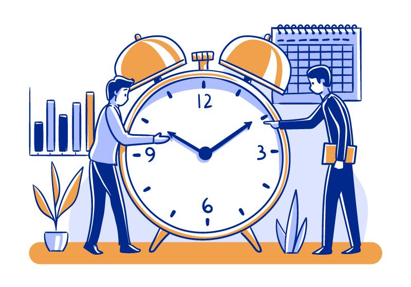 时间管理插画矢量素材(AI/EPS/免扣PNG)