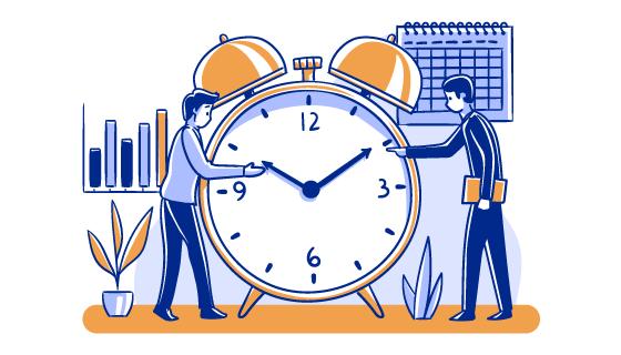时间管理插画矢量素材(AI/EPS/PNG)