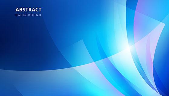 蓝色抽象背景矢量素材(EPS/AI)