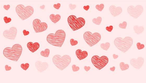 涂鸦爱心设计情人节快乐矢量素材(EPS)