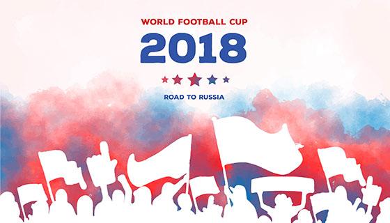 2018世界杯狂欢背景矢量素材(EPS/AI)