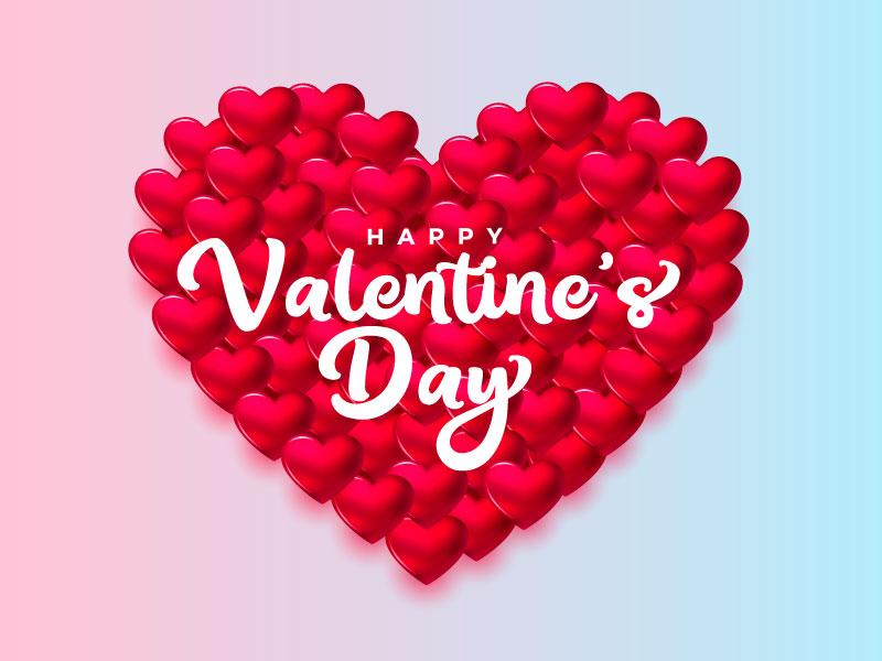 浪漫的爱心情人节快乐矢量素材(EPS)