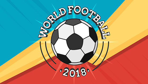2018世界杯背景矢量素材(EPS/AI)