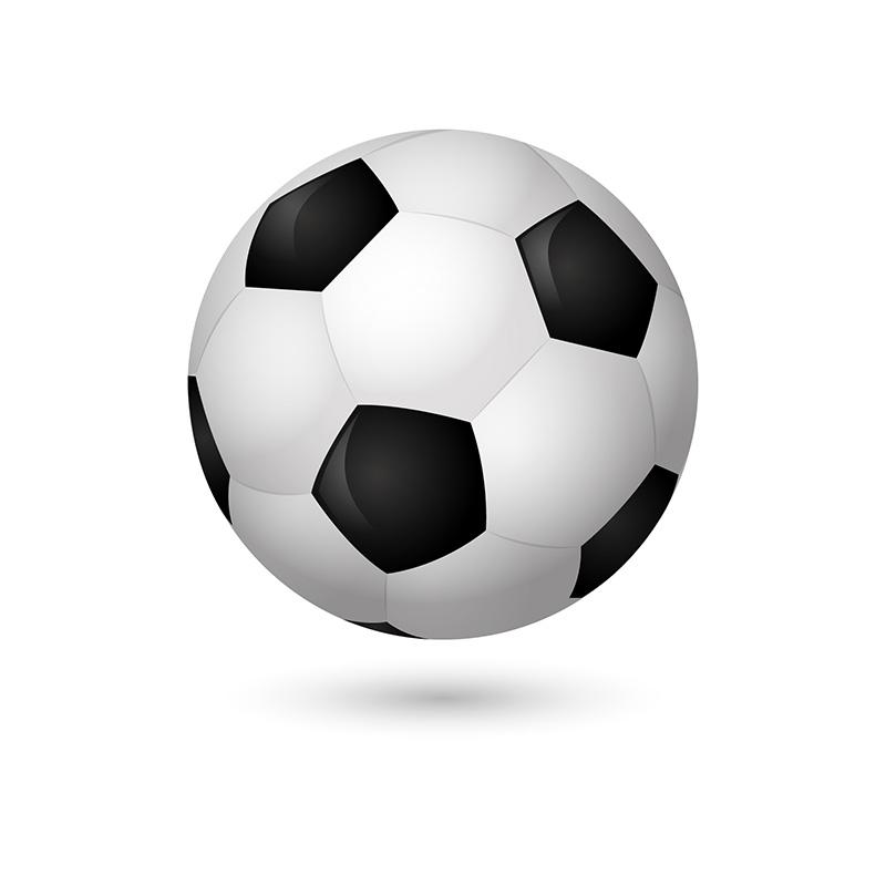 逼真的足球矢量素材(EPS/AI)