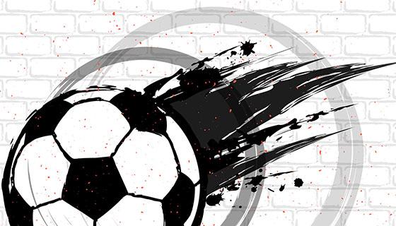 创意足球纹理矢量素材(EPS/AI)