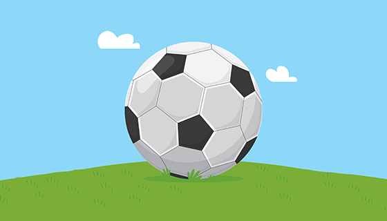 扁平风格足球背景矢量素材(EPS/AI)