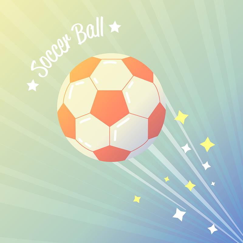 扁平风格足球矢量素材(EPS/AI)