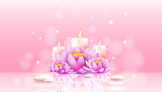 粉色梦幻水疗背景矢量素材(EPS/AI)