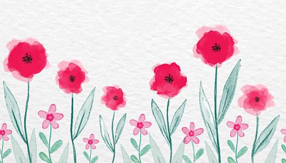 水彩花卉母亲节矢量素材(EPS/AI)