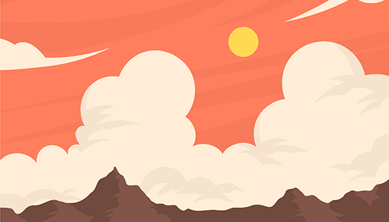 多云的天空背景矢量素材(EPS/AI)