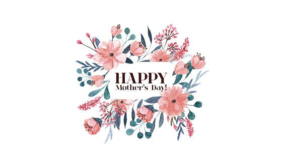 美丽花卉母亲节背景矢量素材(EPS/AI)