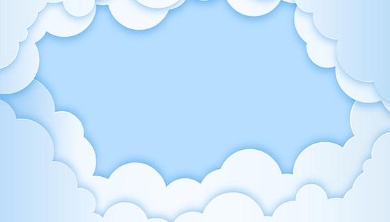 纸张纹理天空白云背景矢量素材(EPS/AI)