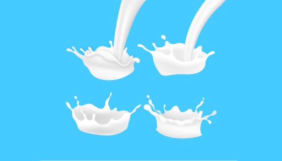 纯白的牛奶矢量素材(EPS/AI)