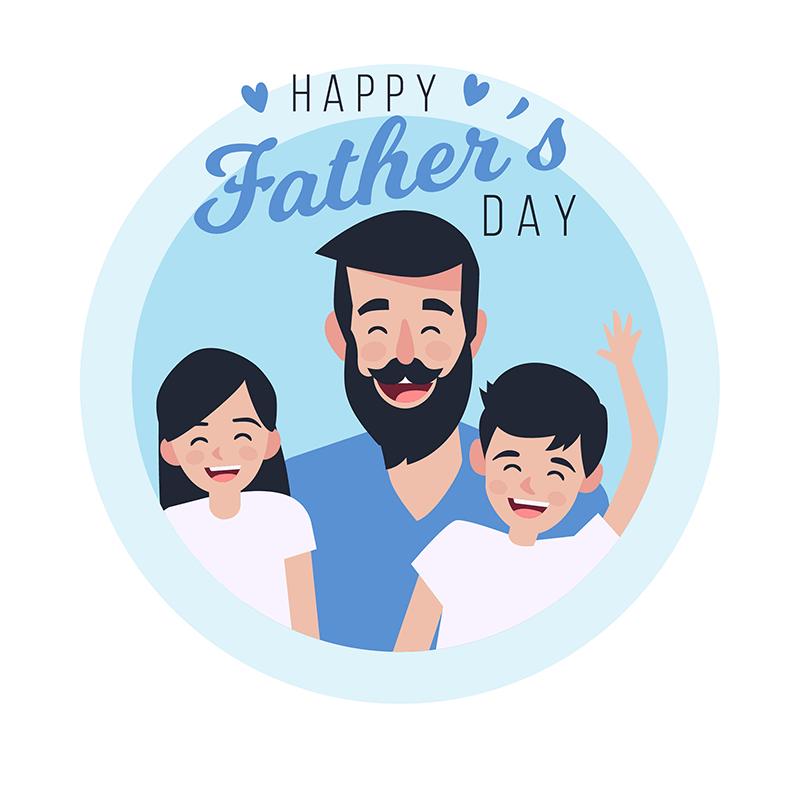 快乐父亲节背景矢量素材(EPS/AI)