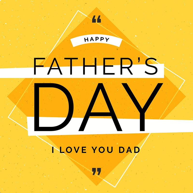 黄色菱形父亲节背景矢量素材(EPS/AI)