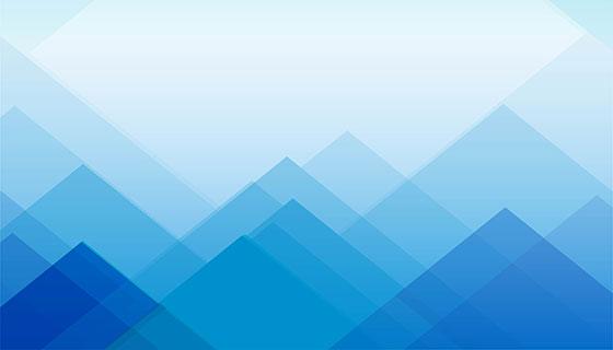 抽象多边形蓝色几何背景矢量素材(eps)