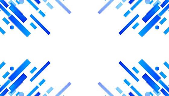 蓝色几何线条背景矢量素材(eps)
