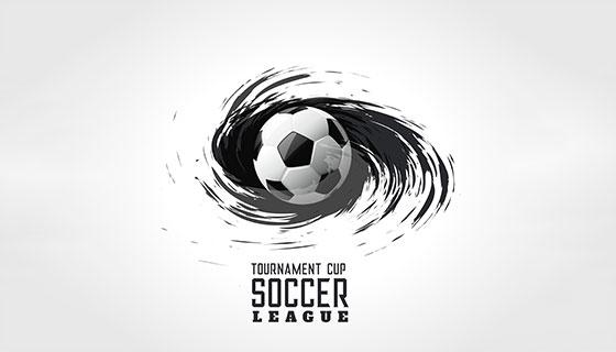 抽象足球漩涡背景矢量素材(EPS)