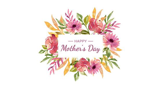 多彩的鲜花母亲节背景矢量素材(EPS/AI/PNG)