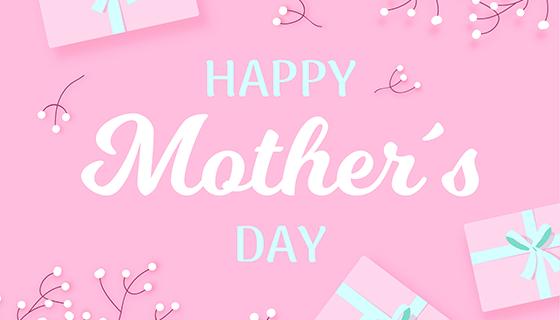 粉色礼盒母亲节背景矢量素材(EPS/AI)