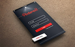 Pintrest iPhone 5登录界面(PSD)