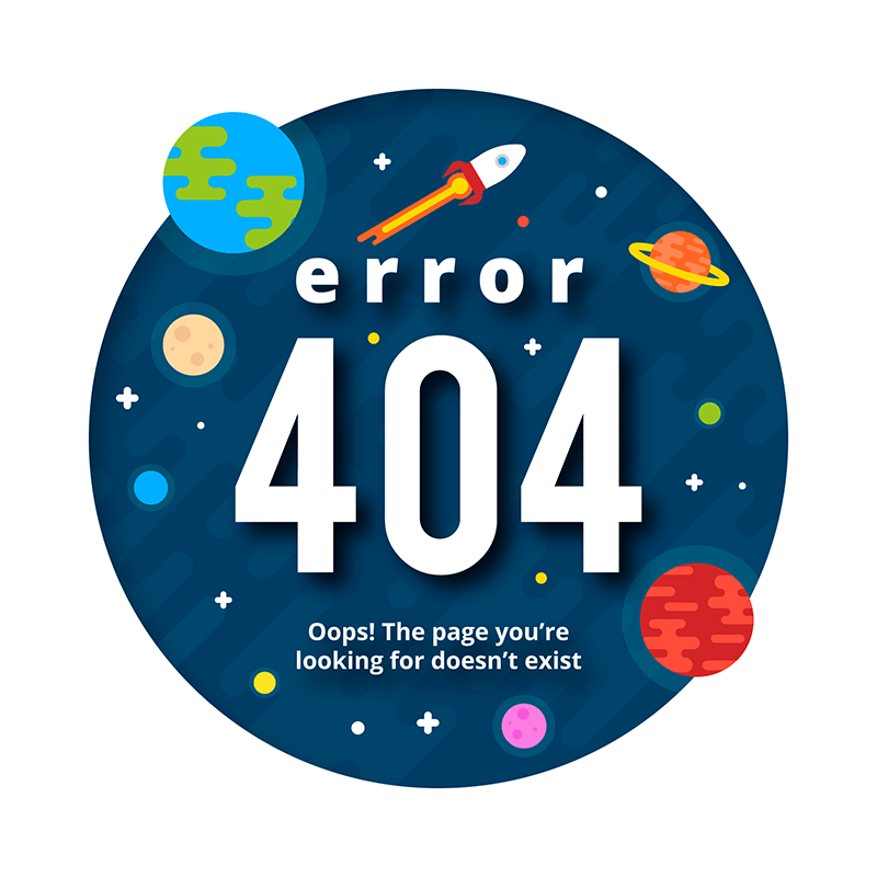 宇宙空间设计404错误页面矢量素材(EPS/AI)