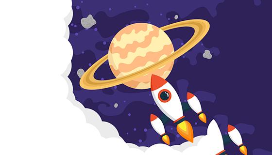 土星背景矢量素材(EPS/SVG)