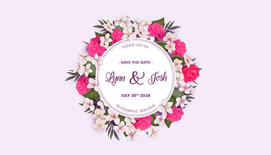 漂亮的婚礼花环矢量素材(EPS)