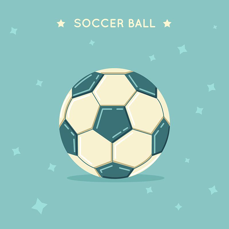 扁平足球背景背景矢量素材(EPS/AI)