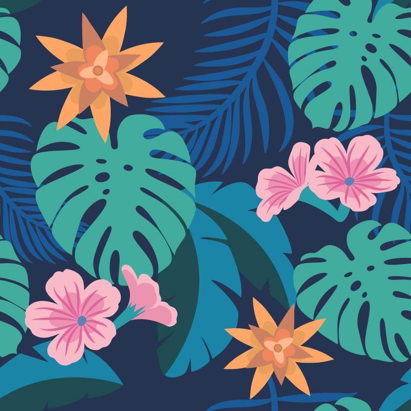 热带植物花卉矢量素材(EPS/AI)