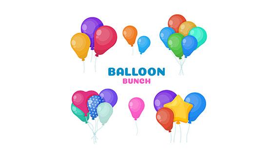可爱多彩的装饰气球矢量素材(EPS/AI)