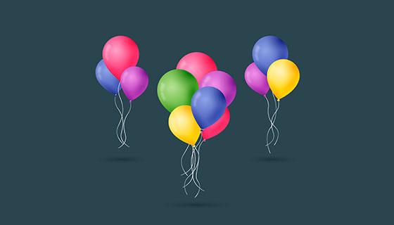 五颜六色的气球矢量素材(EPS/AI/PNG)